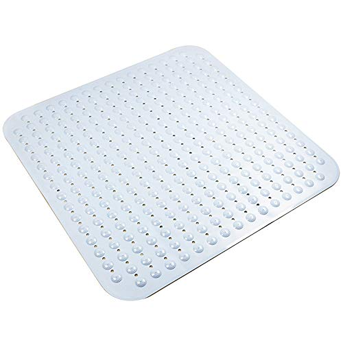 Bath Mat | Extra Big Non-Slip Suction Cups | Best Luxury Durable And Stylish In Bath Mat| Anti-Slip Shower Runner | Modern Bath Mats Quality Suction Cup Design | Machine Washable(80x80 cm),White