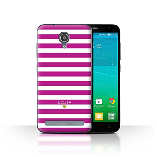 Stuff4Phone Case/Cover/Skin/alcidl2ms/Custom Stripes/Striped Collection Coeur/Fuchsia Rose