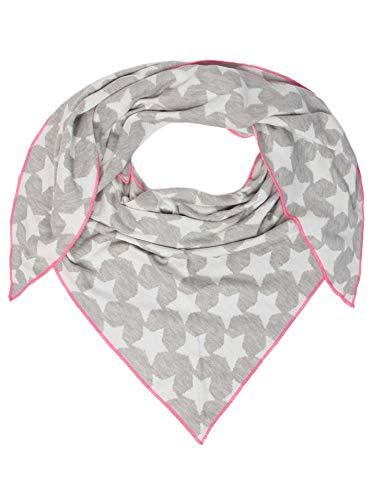Zwillingsherz Dreieckstuch mit Baumwolle- Hochwertiger Schal im dezentem Sternendesign für Damen Jungen und Mädchen - Hals-Tuch und Damenschal - Strick-Waren für Sommer und Winter