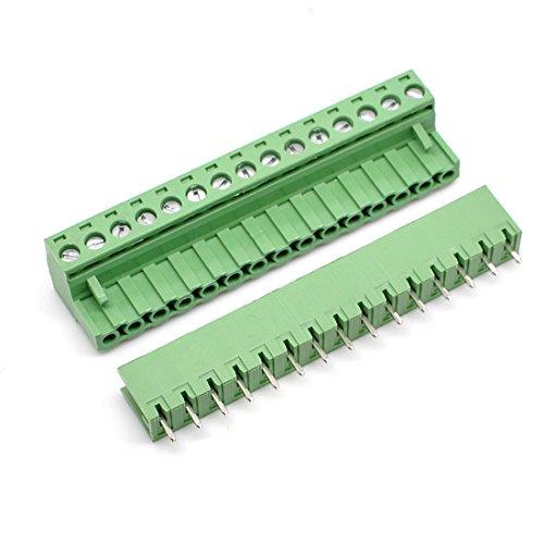 5 Set 15Pin 5.08mm Pitch Stecker Buchse Schraube Klemmenblock
