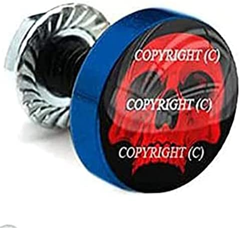 2 Vivid Blue Billet License Plate Frame HALF Tag Ranking Animer and price revision TOP15 Bolts SKU - RED