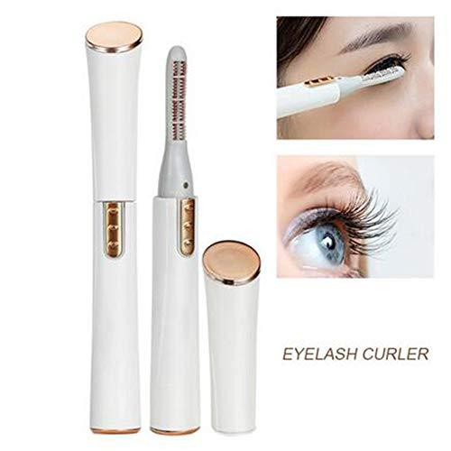 Eyelash curler JFW-Portable électrique Chauffant Maquillage Cils bigoudi Longue durée Naturel Cils Yeux Curling Auto Chauffage beauté Outils