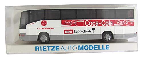 1.FC Nürnberg - Coca Cola & ARO Teppich Welt - MB O 404 RHD - Teambus - Reisebus - Bus - von Rietze