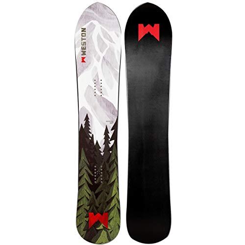 Weston Snowboards Backwoods Snowboard - Men's Green/White, 152cm