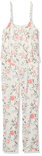 MAMALICIOUS Damen MLDELMIRA June Singlet Woven Jumpsuit NF Umstandsoverall, Mehrfarbig (Snow White AOP:Snow White), 40 (Herstellergröße: L)
