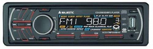 New Majestic SCD-317 Noir récepteur multimédia de Voiture - Récepteurs multimédias de Voiture (Noir, CD,CD-R,CD-ROM,CD-RW, SD, Numérique, EON,PTY, MP3,WMA)