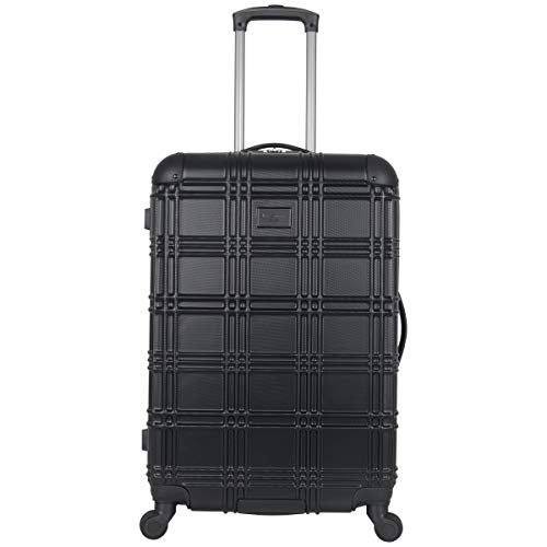Ben Sherman Luggage Nottingham 24' Embossed PAP 4-Wheel Luggage (Black)