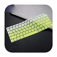 for MacBook Air 13インチ2019 2018リリースA1932タッチID防水防塵保護用シリコーンキーボードカバー-fadegreen-