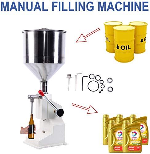 Yonntech Abfüllmaschine Pneumatische Flüssige Manuelle Füllmaschine aus Edelstahl von 5 ML bis 50 ML Kolben Abfüllgerät für Shampoo,Öl,Wasser,Parfüm,Kosmetik usw