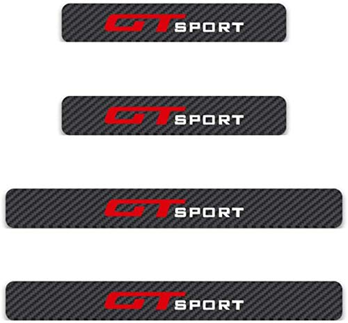 4 Pezzi Fibra di Carbonio Battitacco Esterno Auto per Dodge Avenger Durango Journey Nitro Ram, Protezioni Soglia Anti-Usura Trim Sticker Styling Accessorio