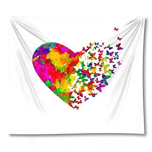 PPOU 3D Farfalla succulente arazzo tappetino Yoga montaggio a parete decorazioni per la casa sfondo panno arazzo coperta A3 150x200 cm