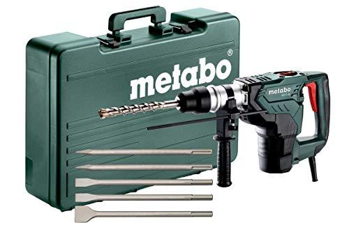 METABO Set Kombihammer KH 5-40 (691057000); mit SDS-max-Meißelsatz (5-tlg.); Kunststoffkoffer