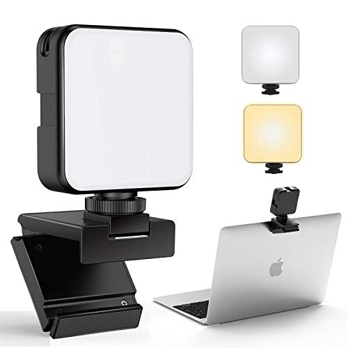 FDKOBE Video Conference Lighting Kit with Webcam Style Mount for Laptop/Computer, Webcam Lighting for Remote Working, Zoom Calls, Zoom Lighting, Live Streaming, Self-Broadcasting, for Mac, Monitor