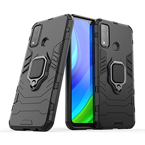 Bolso de un teléfono portátil Para Huawei P Smart 2020 Funda telefónica, funda de smartphone del anillo de rotación de 360 grados, cubierta del titular de la caja del teléfono a prueba de golpes par