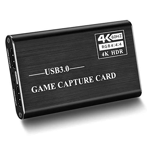 Mixsun キャプチャーボード 4K HDMI USB3.0 ビデオキャプチャカード ゲームキャプチャデバイス USB3.0 1080P 60FPS HD 画質 ゲーム実況・録画・配信 ライブ会議用 Windows / Linux / Mac OSX 対応 PC / PS3 /PS4 / Xbox / Switch / Wii U / 携帯電話用 OBS、XSplit、ZOOM、Potplayer、twitch、Youtube適用 日本語説明書付き 黒