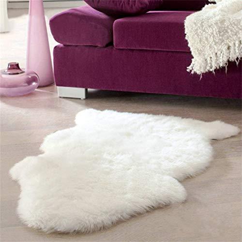 Ballylelly Super doux en peau de mouton tapis lavable Chaud Coussin de siège poilu Tapis moelleux Tapis en fausse fourrure pour les fauteuils de plancher Canapés Coussins