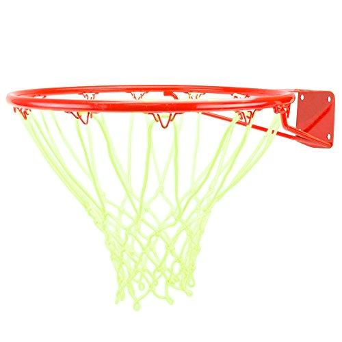 Crown Sporting Goods Glow-in-The-Dark Blanco Nylon Baloncesto Net por Corona artículos Deportivos - Glow-in-The-Dark, 1-Pack