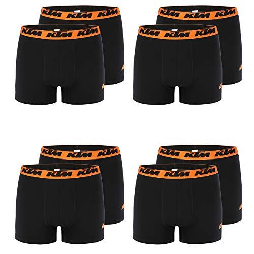 KTM Boxer Men Herren Boxershorts Pant Unterwäsche 8 er Pack, Farbe:Black2, Bekleidungsgröße:M