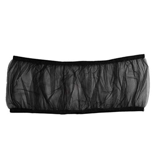 VILLCASE - Jaula para pájaros, semillas, protección de loro, red de nailon, cubierta de red elástica, concha falda, cesta para jaula, tamaño L, color negro