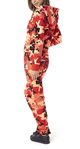 OnePiece Damen Unisex Logo Camo Jumpsuit, Rot (Red), Small - 5