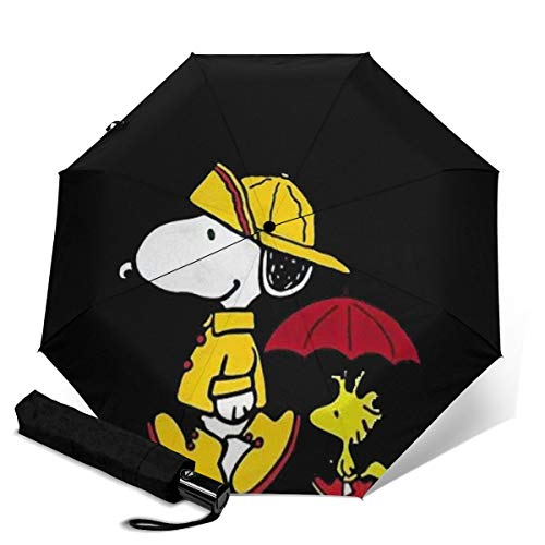 Cartoon Snoopy Regenschirm, dreifach faltbar, tragbar, winddicht