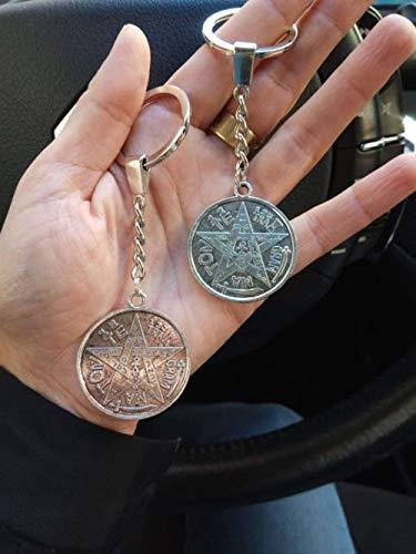 Llavero TETRAGRAMMATON, poderoso amuleto, talismán de protección personal