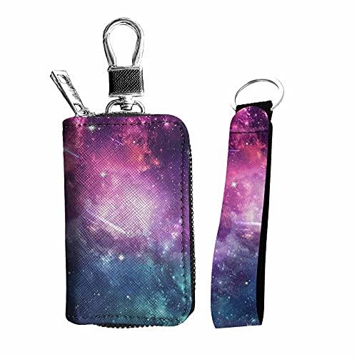 chaqlin Juego de 2 accesorios interiores para llaves de coche, incluye correa de muñeca de mano, llavero y bolsa de piel sintética
