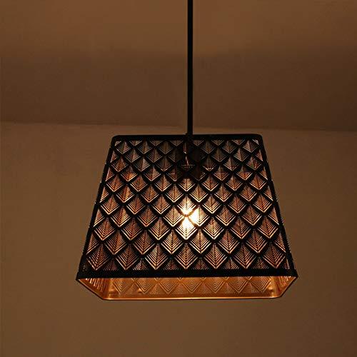 Lámparas Colgantes De Luz De Metal Retro Lámparas Colgantes con Enchufe E27 Lámparas De Colgante, Instalación De La Isla De La Cocina Mesa De Comedor del Vestíbulo (Negro)