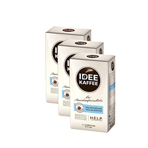 Darboven IDEE KAFFEE 3 x 500 g (1500g), Arabica Filterkaffee gemahlen - Premiumqualität