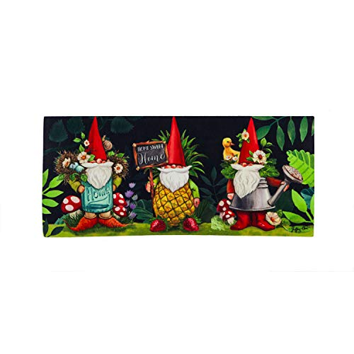 Evergreen Flag Gnomes in The Garden Sassafras Switch Mat - 22 x 1 x 10 Inches