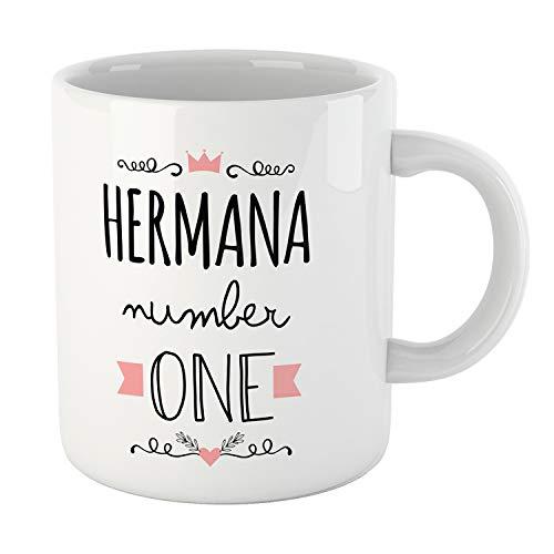Kembilove Tazas Familiares – Preciosas Tazas para Toda la Familia – Tú Eres La Hermana Número Uno – Magníficas Tazas de Café para Hombres y Mujeres – Regalos Divertidos para Familiares y Amigos