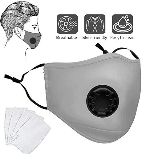 Anti-Staub-Maske, Nasharia 1 pack Outdoor Anti Verschmutzung Maske, wiederverwendbar, PM 2,5 Anti-Staub-Masken, waschbar, Anti-Haze Gesichtsmaske Schutzmaske Atemschutzmaske mit Filter-Baumwoll-Blatt