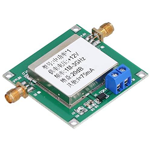 Módulo amplificador de 12 V CC, amplificador de bajo ruido, 1 MHz a 3 GHz, ancho de banda, placa de módulo amplificador de RF, ganancia de 19,5 dB