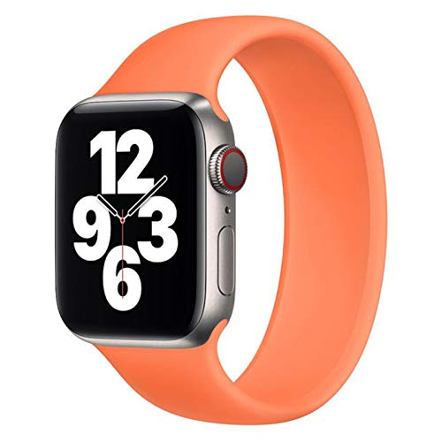 Solo Loop para Apple Watch Band 44 mm 40 mm iWatch Band 38 mm 42 mm Cinturón elástico Pulsera de silicona para Apple Watch serie 6/5/4/3 / SE Correa