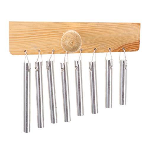 HEALLILY Tisch Bar Glockenspiel 8 Takte Einreihiges Musikinstrument mit Hammer für Ornamente Schlagzeug Tisch Schreibtische Klassenzimmer Musik Meditation Yoga