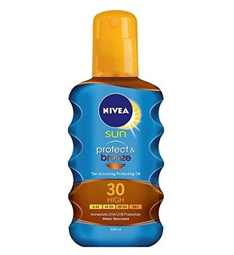 Nivea Sun Protect And Bronze Tan Activating Protecting Oil Spf 30 200Ml - Pack of 2