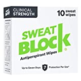 SweatBlock Clinical Strength Antiperspirant Wipes- Treat Hyperhidrosis...