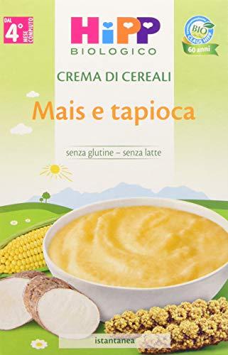 HiPP - Crema di Cereali Bio, Mais e Tapioca, 6 Confezioni da 200 g