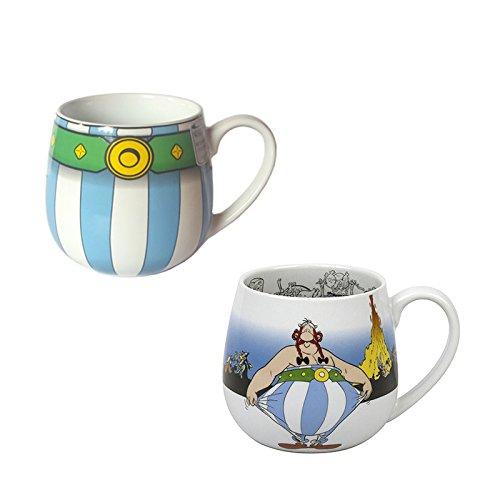 Könitz Porzellan Kaffee Becher Set Asterix 2 teilig schöne Geschenk Idee originelle Kaffee Tassen im Set
