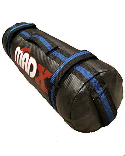MADX Power Cloth Sand FILLED Bag Powerbag Training Sandbag Black 0-30kg (Black/Blue, Unfilled)