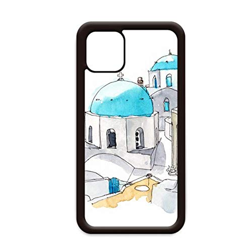 Imerovigli Village - Carcasa para Apple iPhone 11 Pro Max, diseño de Santorini Grecia