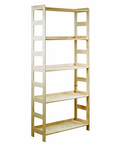 Estantería de madera de pino maciza, estantería modular R-* 8 variantes (R-09 alto x ancho x profundo) 166 x 63 x 33 cm