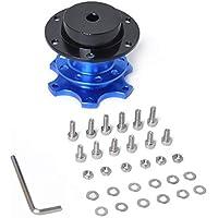 Dynamovolition Universal Steering Wheel Quick Release Hub Boss Kit Adaptador de Cubo de Rueda para 6 Agujeros Accesorios de Coche de Cubo de Volante