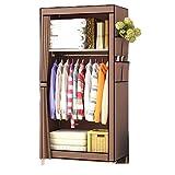 LYLY Armario de tela simple simple para asamblea, pequeño dormitorio, dormitorio, dormitorio, estudio, hogar, almacenamiento, cortina de almacenamiento (color: A)