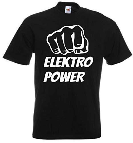 JINTORA Camiseta T-Shirt - Hombre Negro - Talla XXL - Punzón de...