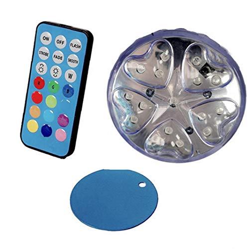 lujiaoshout Bad Beleuchtung Whirlpool Submersible glühend Unterwasser Disco Farbwechsel für Pond Pool Vase Basis Fish Tank Yard Supplies