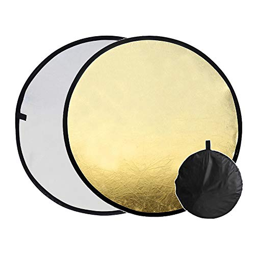 Ruberg, reflector plegable 2 en 1, portátil, 30 cm, redondo, en oro...