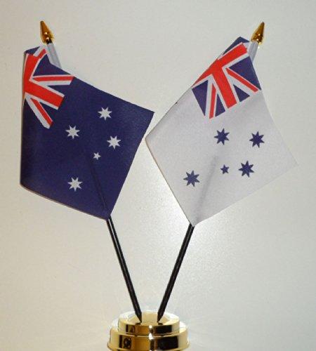Blanc et Ran Australie Royal Australian Navy Ensign Drapeau de table Amitié Écran 25 cm (25,4 cm)