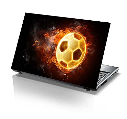 PIXELARTZ Laptop Skin - Football - Fire - Gamelover - HD Quality...