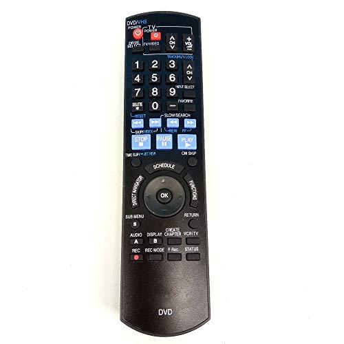 Bestol Tech Remote Control N2QAYB000197 for Panasonic DVD VCR DMR-EZ48V EUR7659T50 EUR7659T60 EUR7659T70 EUR7659T80 DMR-EZ485VK DMR-EZ48 DMR-EZ485 DMR-EZ48V DMR-EZ485V DMR-EZ48VK